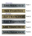 San Francisco Clock Name Plate |World Time Zone City Wall clocks Sign custom Plaque